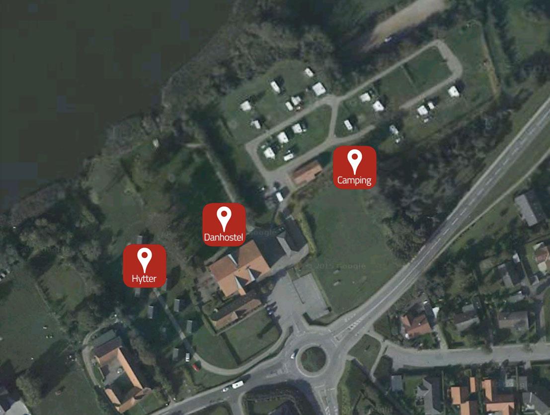 campingplads oversigtskort Danhostel Haderslev